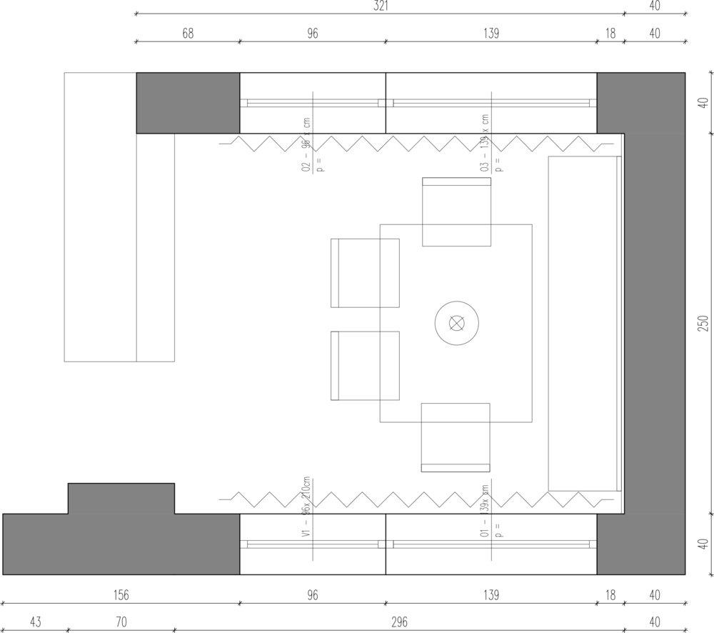 tloris jedilnica - notranje oblikovanje