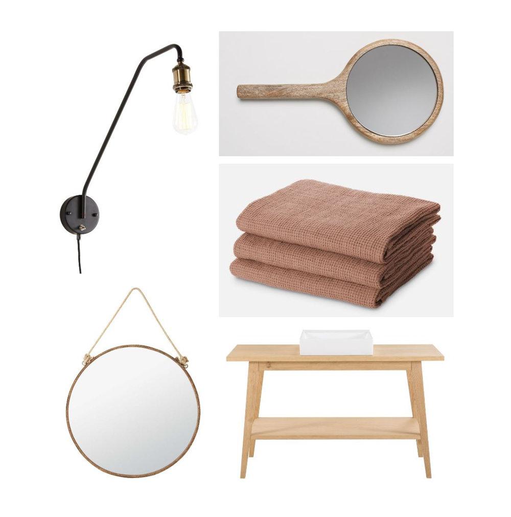 Poke studio, kopalnica, notranje oblikovanje