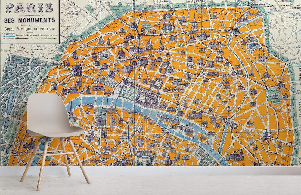 atpete-parisian-streetmap-city-room-poke-notranje oblikovanje