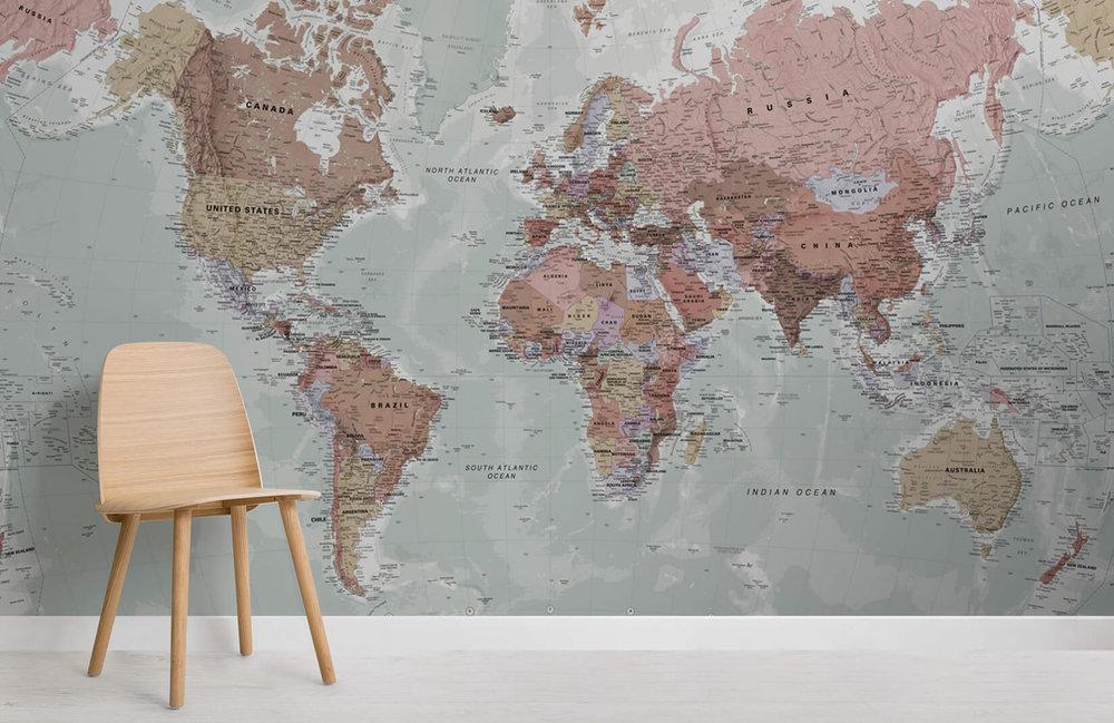 tapete-classic-world-map-maps-room-notranje-oblikovanje-poke