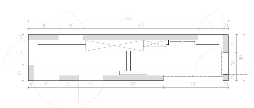 Tloris, notranje oblikovanje, POKE studio
