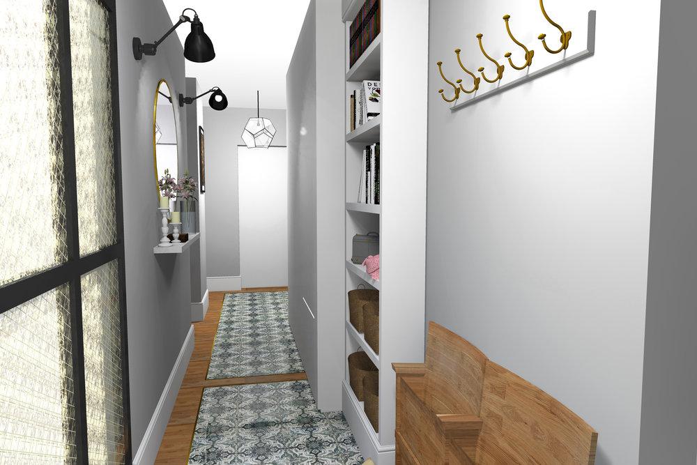 Hodnik, notranje oblikovanje, POKE studio