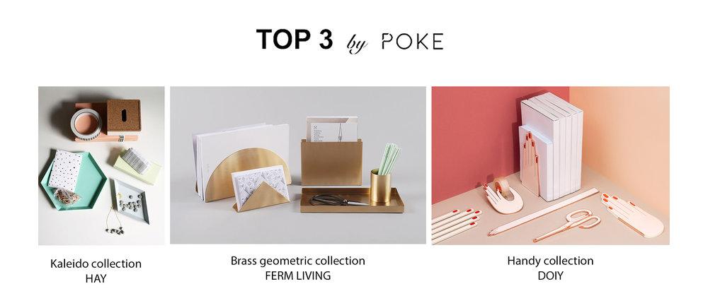 top 3, POKE studio, stationery, design