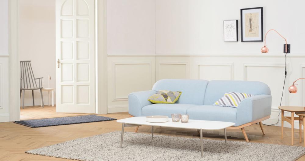 4.  NORTH HEM :   Volt 3-Seater Sofa  Pale Blue
