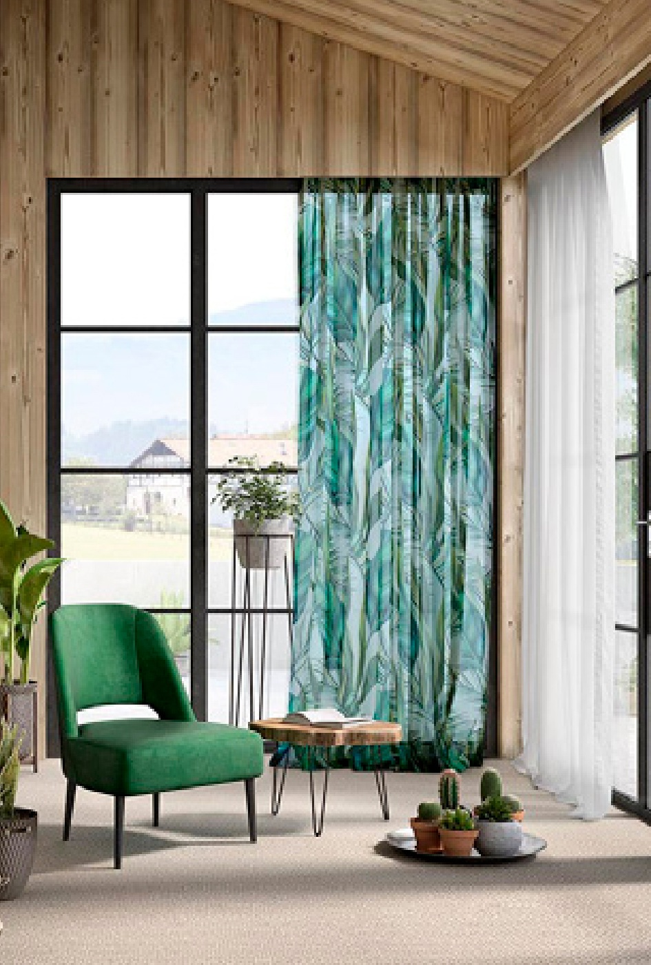 02. CASTLE, Wind, a collection of fabrics for curtains