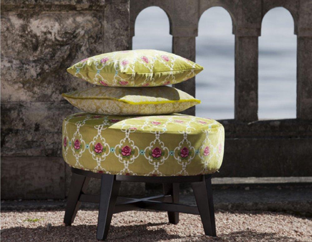 06. MAMMA MIA, a collection of curtain fabrics and decorative accessories