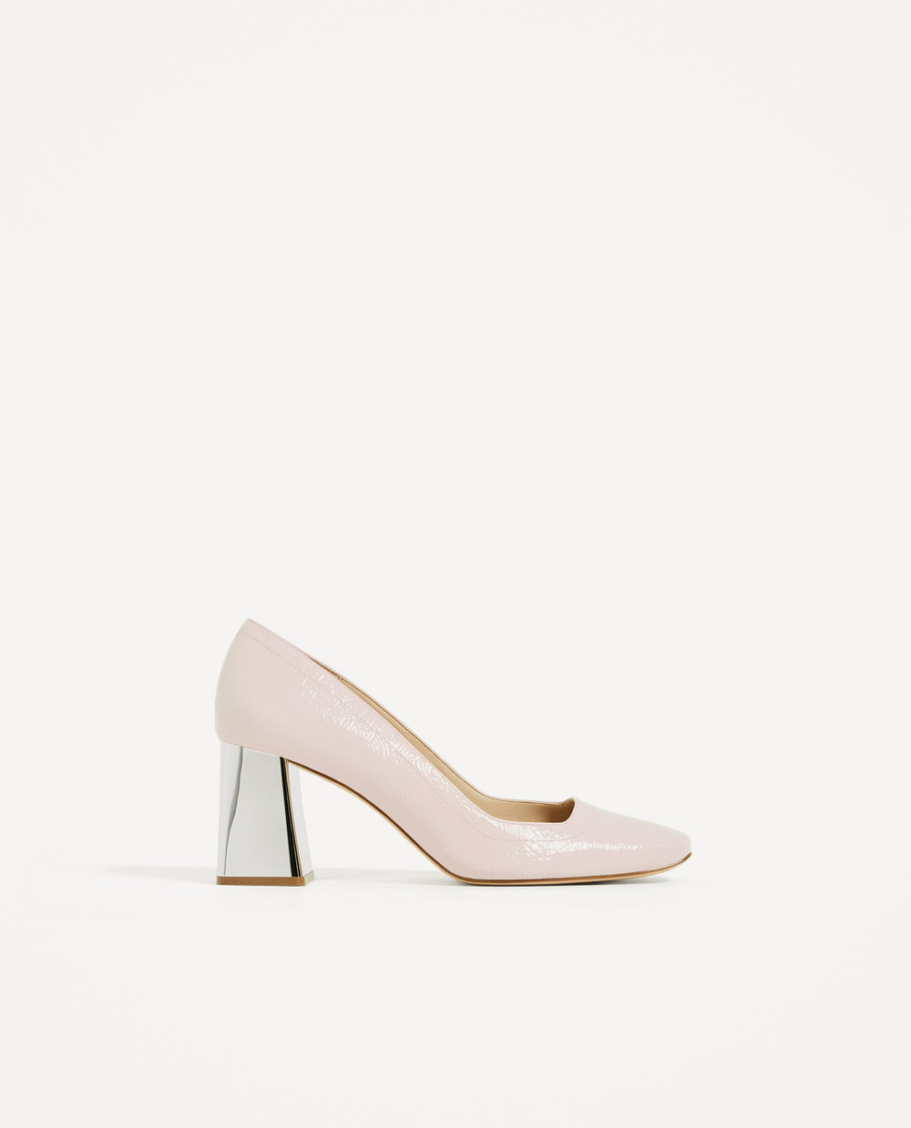 Patent heels 49.95 Zara