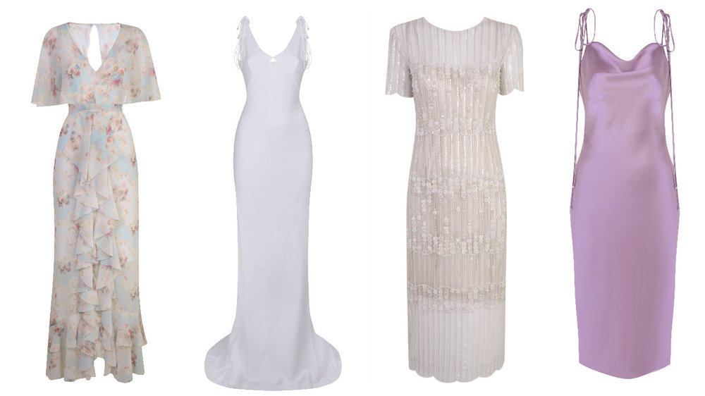 The bridal range: €490-€1,100. Bridesmaids price range: €117-€325.