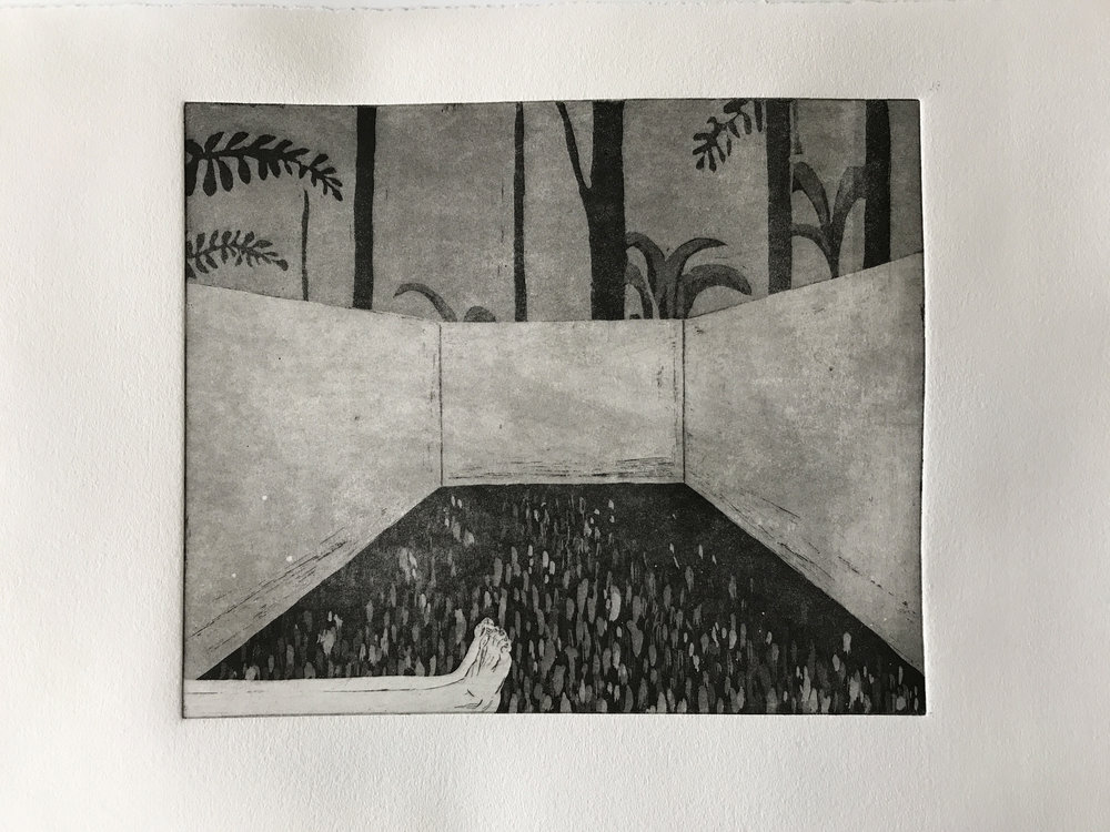 Horizontal II  Engraving with Aquatint  30 x 35 cm