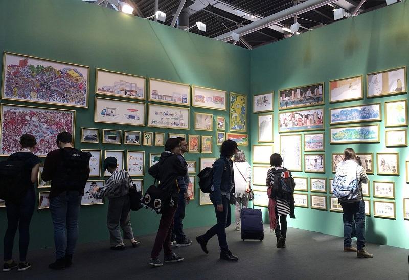 圖說:台灣繪本美術館136幅插畫作品將留在波隆那公共圖書館展示