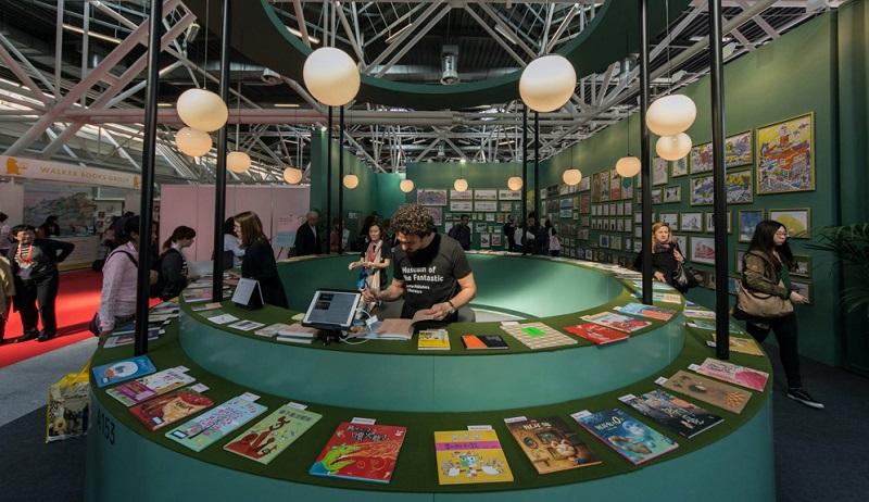 圖說:台灣繪本美術館出版社專區的呈現