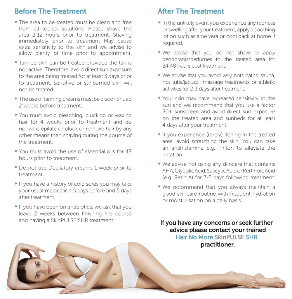 Pre & Post Treatment Instructions