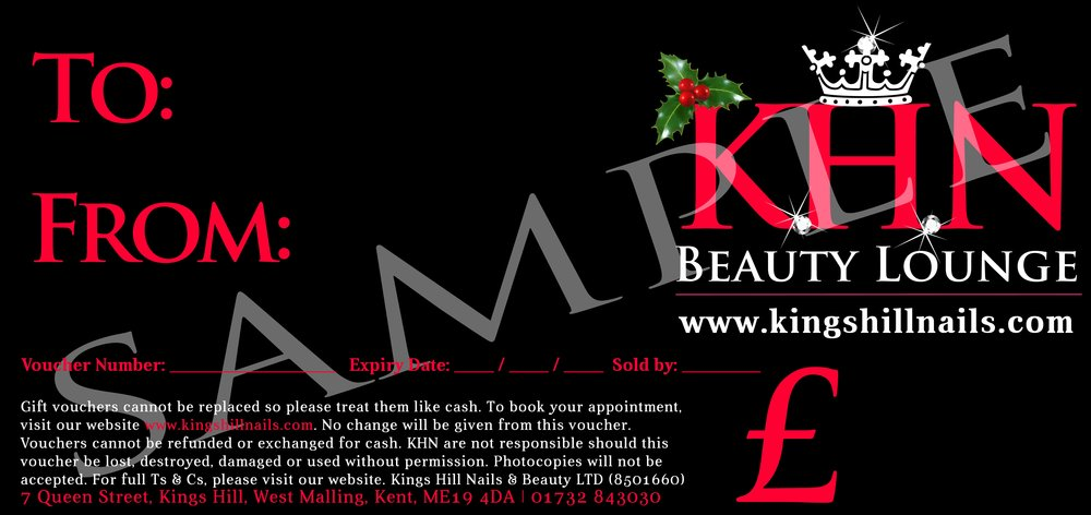 gift vouchers for our beauty salon based at kings hill west malling