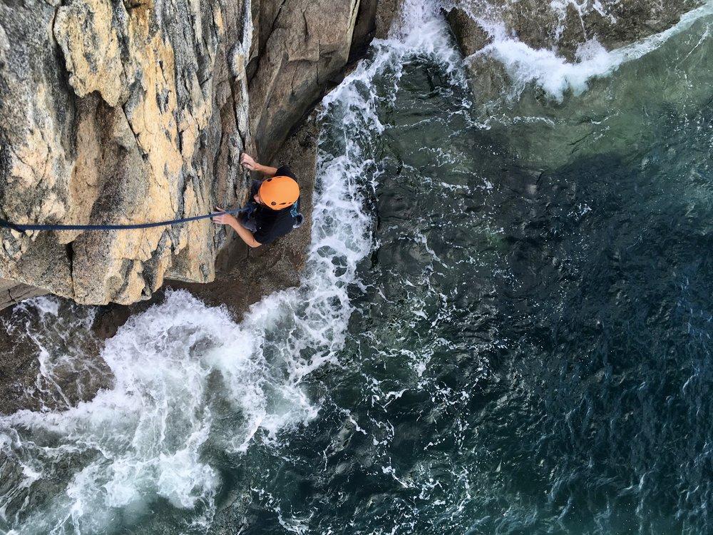 Rock climb Acadia National Park