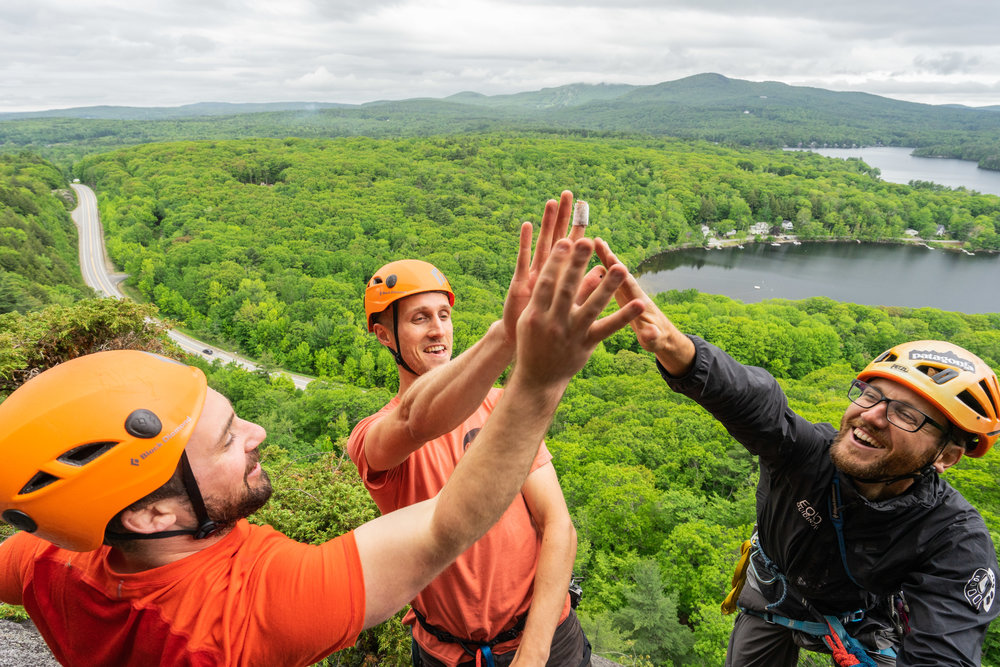 Guided Rock Climb - Whether you are an experienced rock climber looking to sample the varied terrain in Camden and Acadia or you are a beginner looking to see different areas and sights from our cliffs, a full day provides an amazing experience.