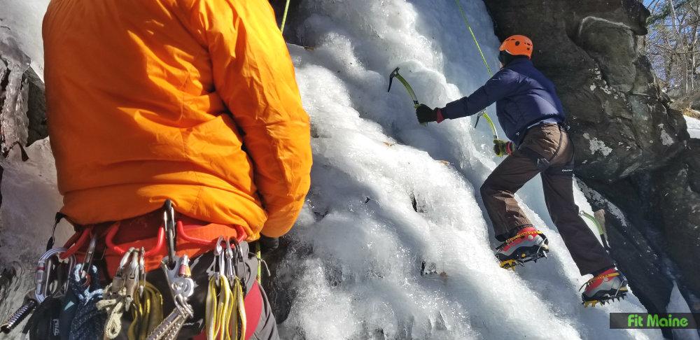 Camden Maine Ice Climbing