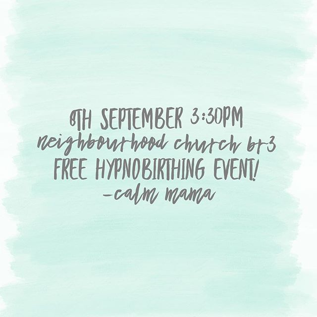 Register today to secure you and your birth partner's place.  Come and find out what Hypnobirthing is and isn't and how the right antenatal class can help you prepare for an empowered birth experience.  www.calmmama.co.uk  #bromley #beckenham #westwick #calmmamabr3 #preggers #birthchoices #informedchoice #childbirtheducation #hypnobirthing #kghypnobirthingteacher #kghypnobirthing #golocal #positivebirth