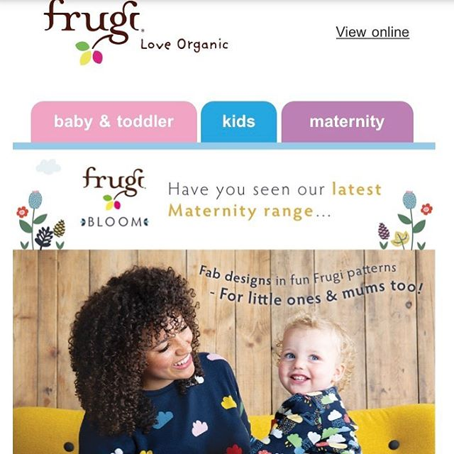 Have you seen the @welovefrugi new maternity range? I LOVE their children's clothes, well made, wash well, robust enough to still look good after my two adventurers have put them through their paces. The colours are vibrant the patterns are fun and playful.  I found it really hard to find maternity clothing that was similar to my style when I was pregnant (3 years ago now) Frugi's Bloom range would have been right up my street.  #yummymummytobe #maternityfashion #welovefrugi #whattowear #preggobelly #preggoproblems #preggostyle