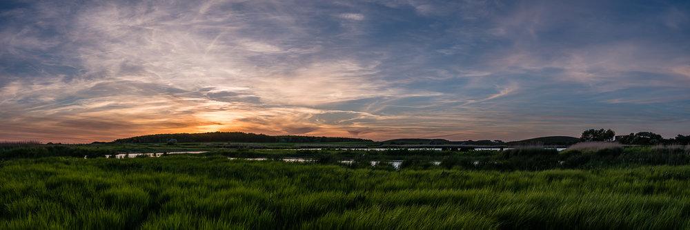 Solnedgang over Klise Nor og Ågabet - juni 2017.