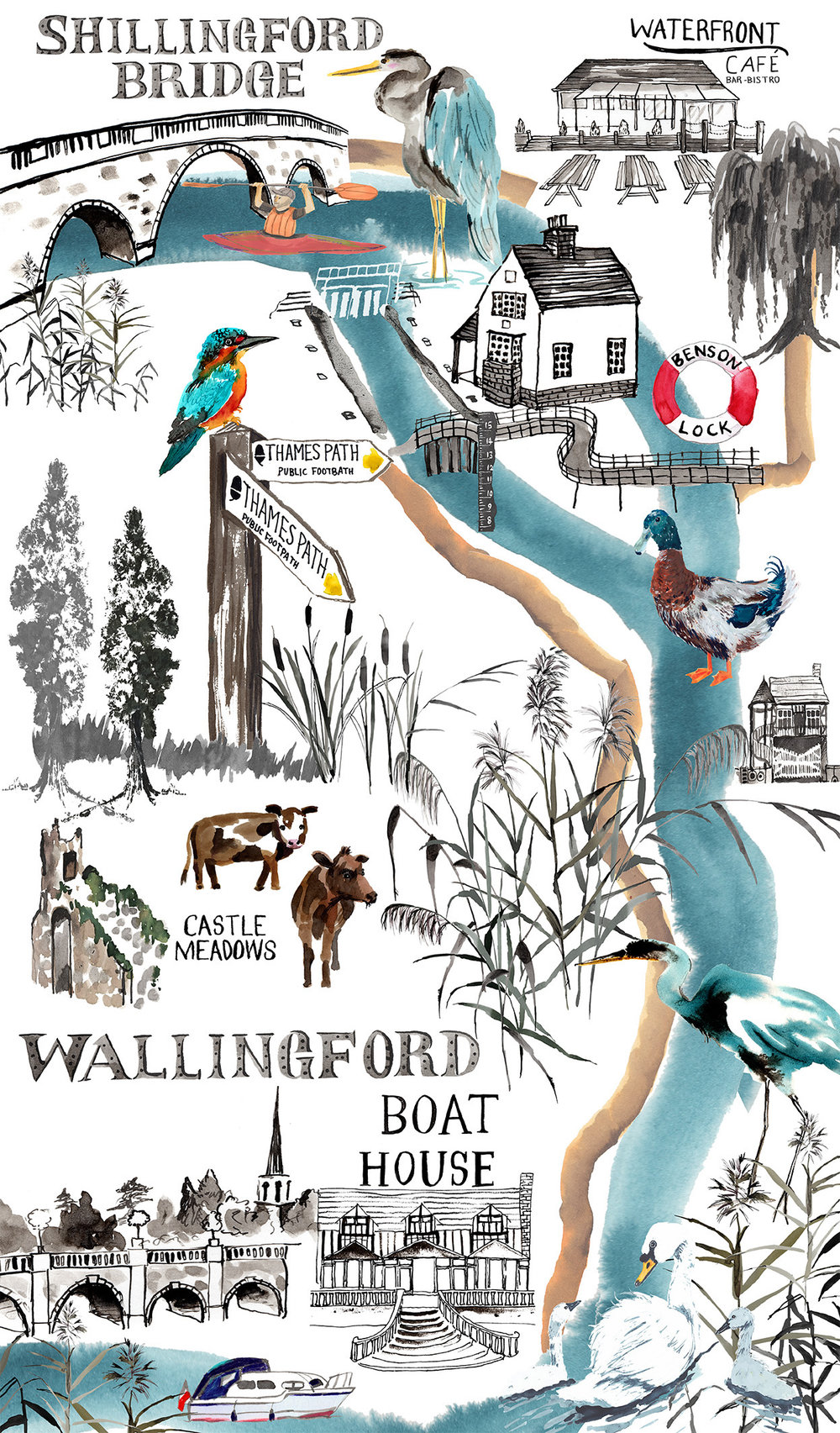 Wallingford River Map