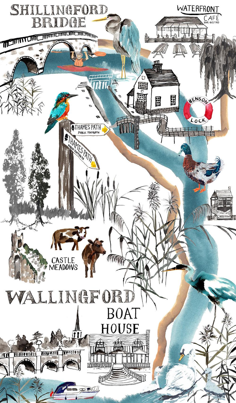 Wallingford River Map