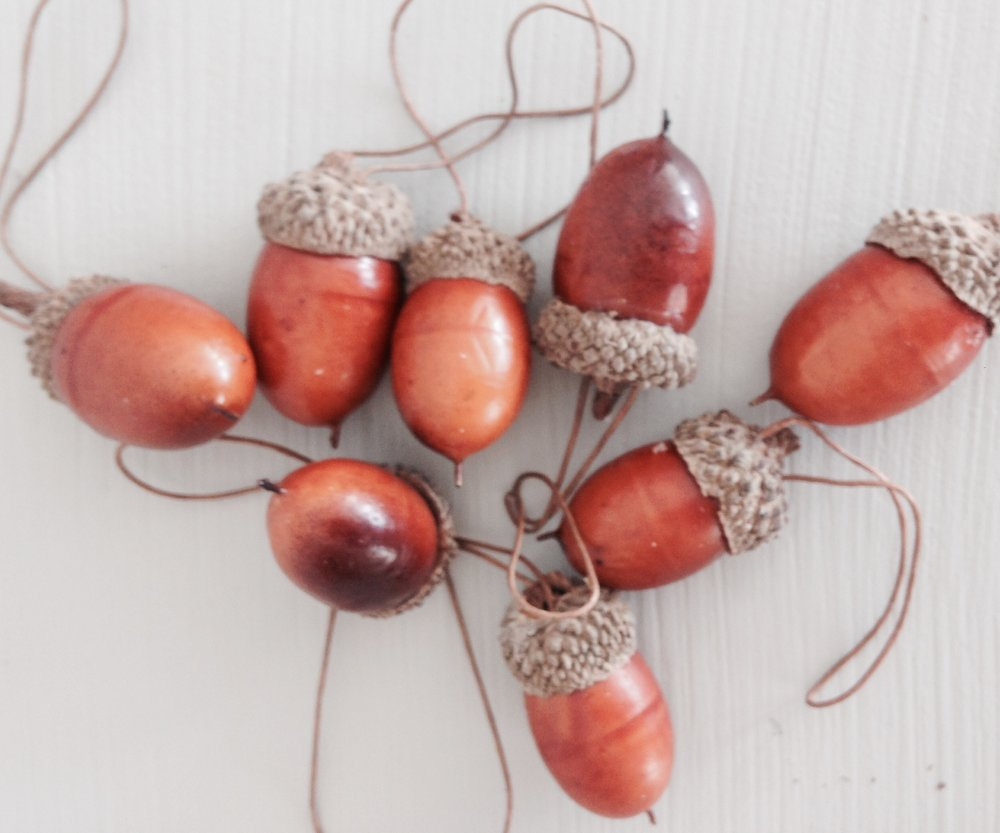 Wired acorns.