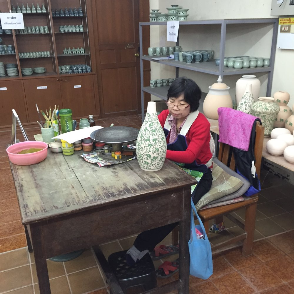 Best celadon pottery in Chiang Mai