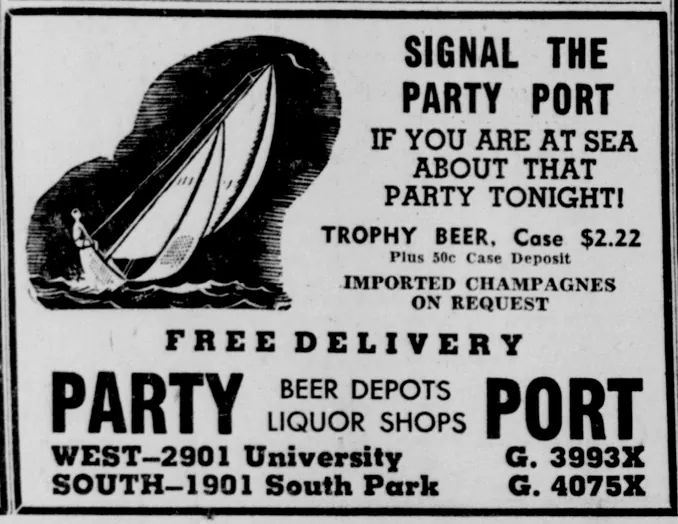 1946 Party Port advertisement