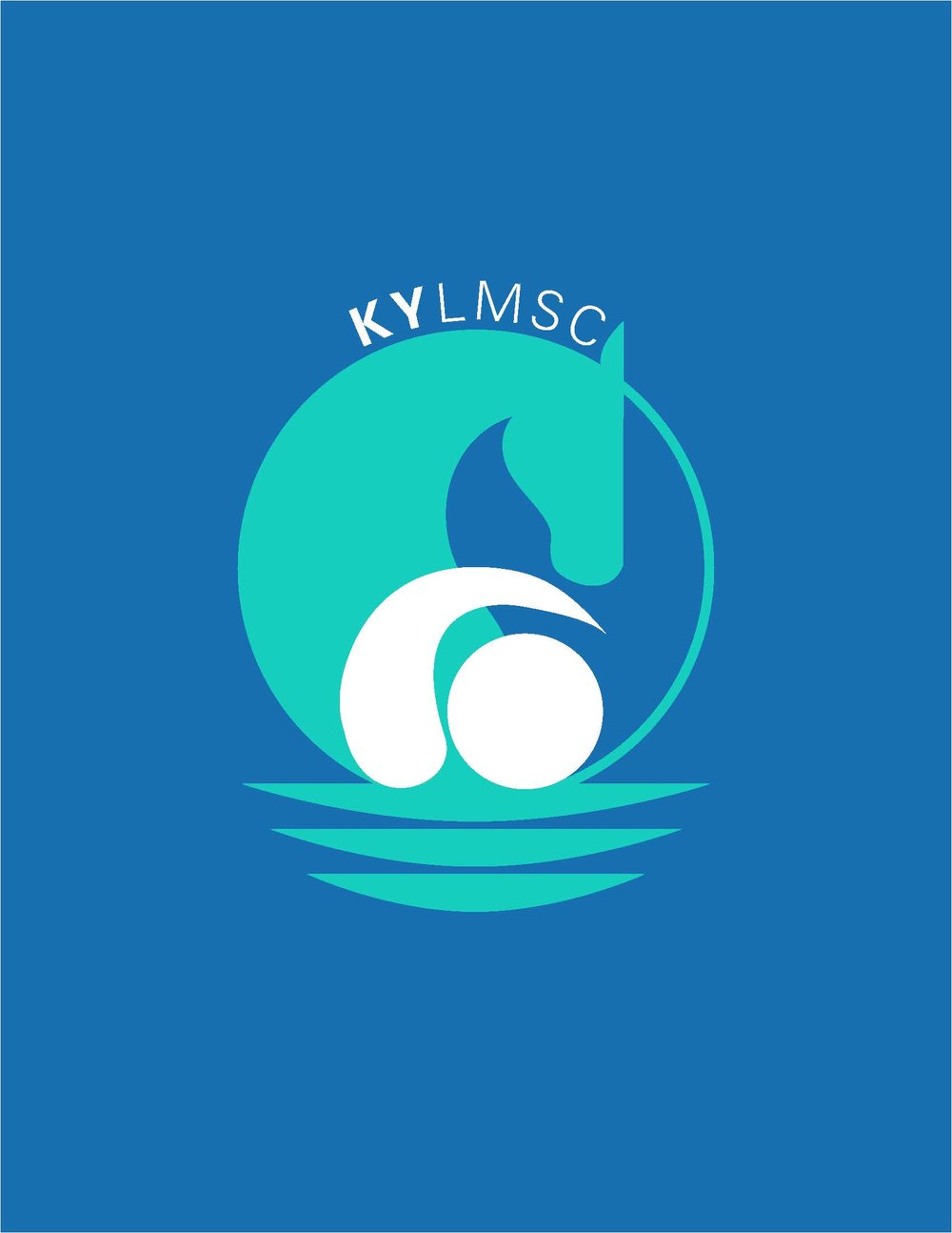 Duck Enander's design for the new KY-LMSC logo seeks to represent every swimmer in the Kentucky LMSC.