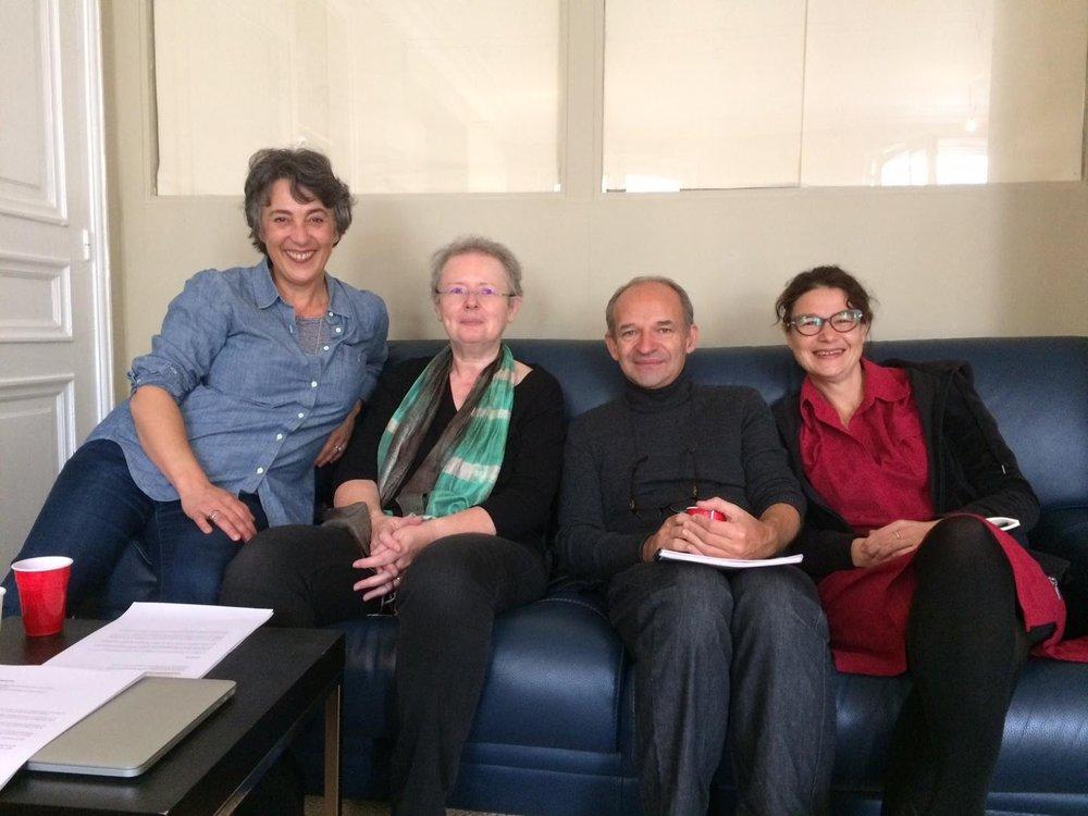 France Blanc, Françoise Colas, Thomas Schmitt, Perrine Michel