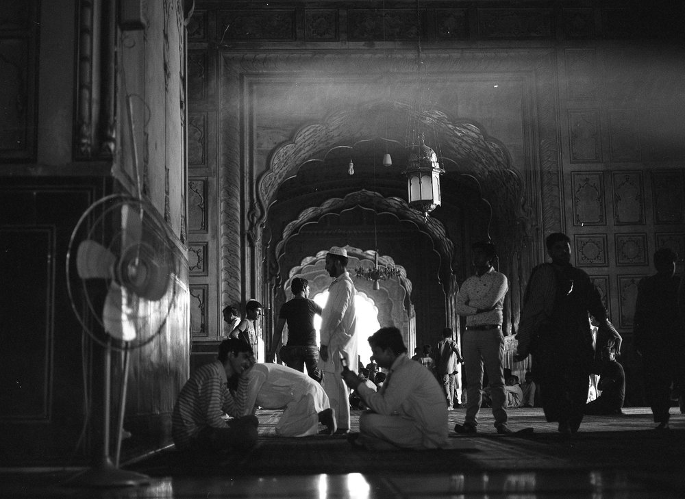 Badshahi Mosque, Lahore 2015, photographed on 120 mm Ilford Black & White film using a Mamiya 645.