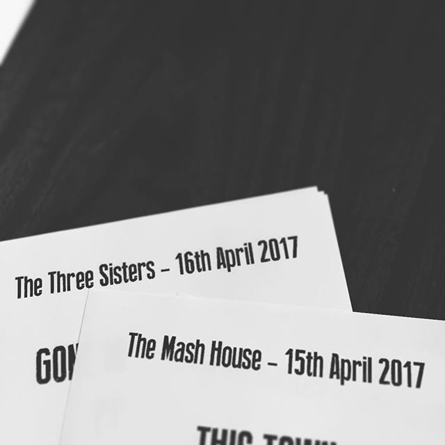 Setlists at the ready... Still tickets available at the door if you want to come along and see us tonight at The Mash House, doors at 7pm.
