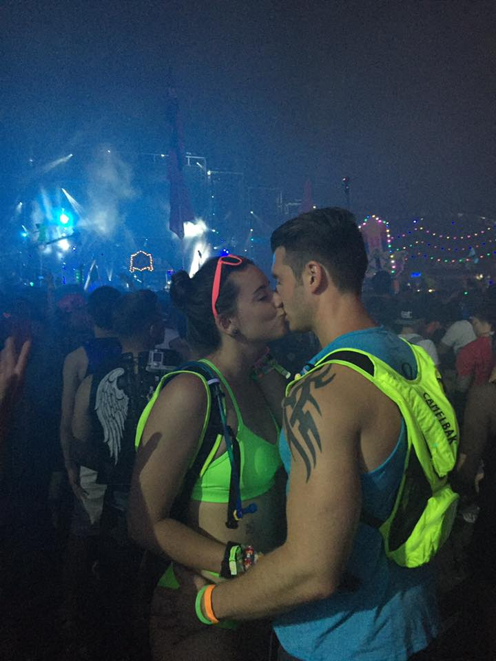 After Ian proposed during Seven Lions at the Electric Daisy Carnival.  Las Vegas, June 16, 2016