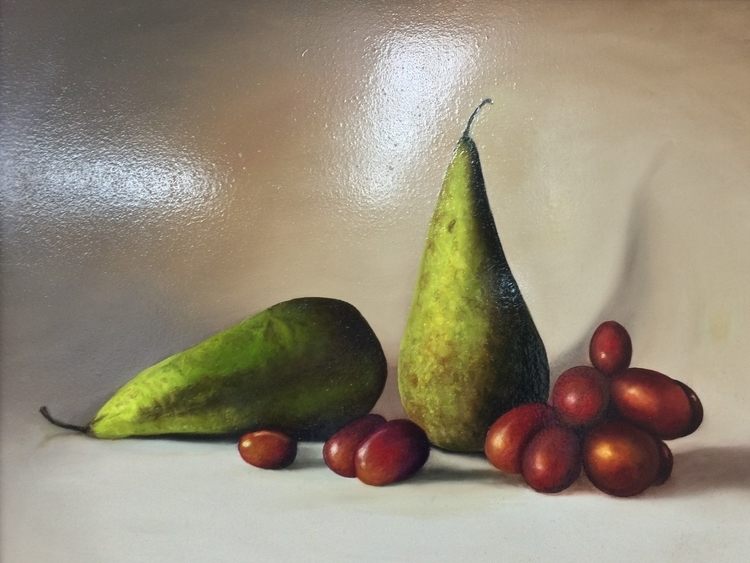 CAA Pear and Grapes Still Life