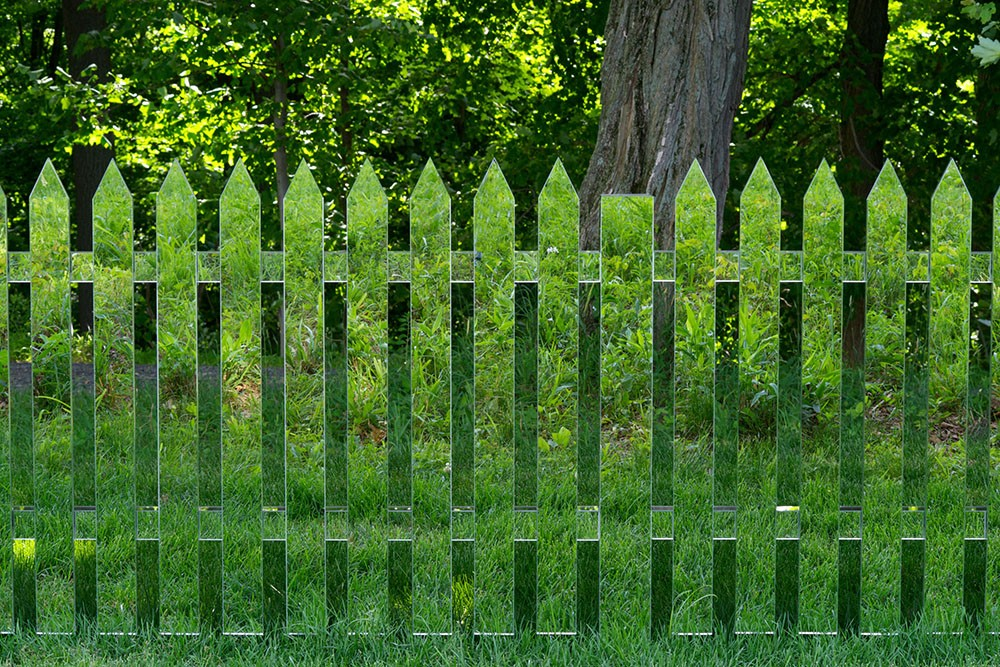 Alyson Shotz. Mirror Fence