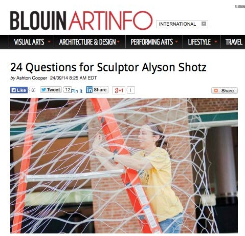 Blouin Art Info: September, 2014