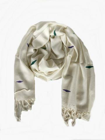 Tala Scarf - The Tala Scarf is beautiful, super soft and ethically-made! This fair trade scarf is handwoven by women in Egypt and made from Egyptian cotton and viscose.