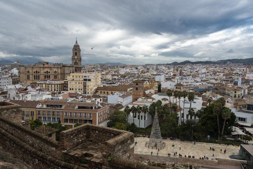 Uitzicht Málaga vanaf Gibralfaro