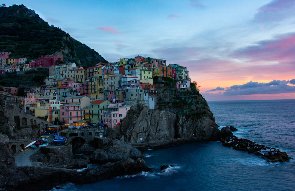 Cinque Terre, Italy at Sunset