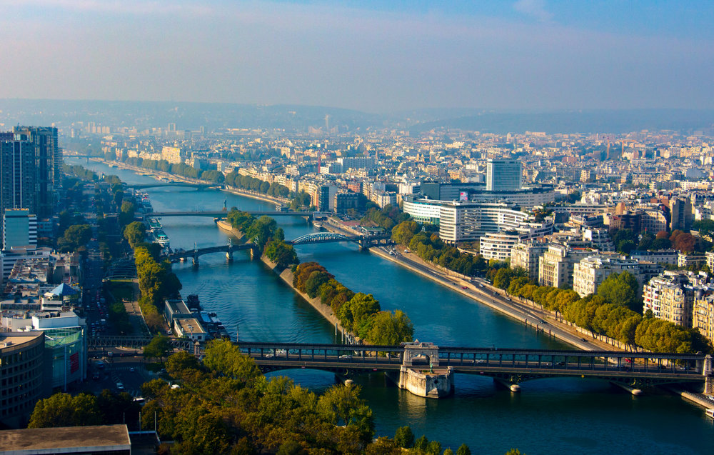 Seine River from the Eiffel Tower