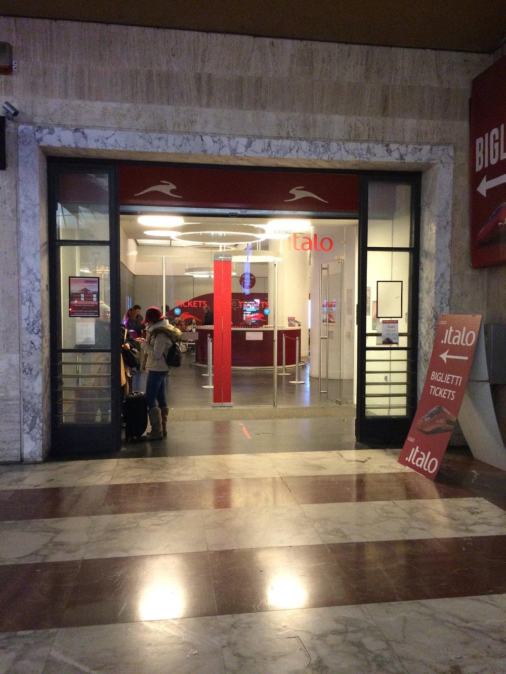 Italian Train Ticket Office - Biglietti is the high speed train