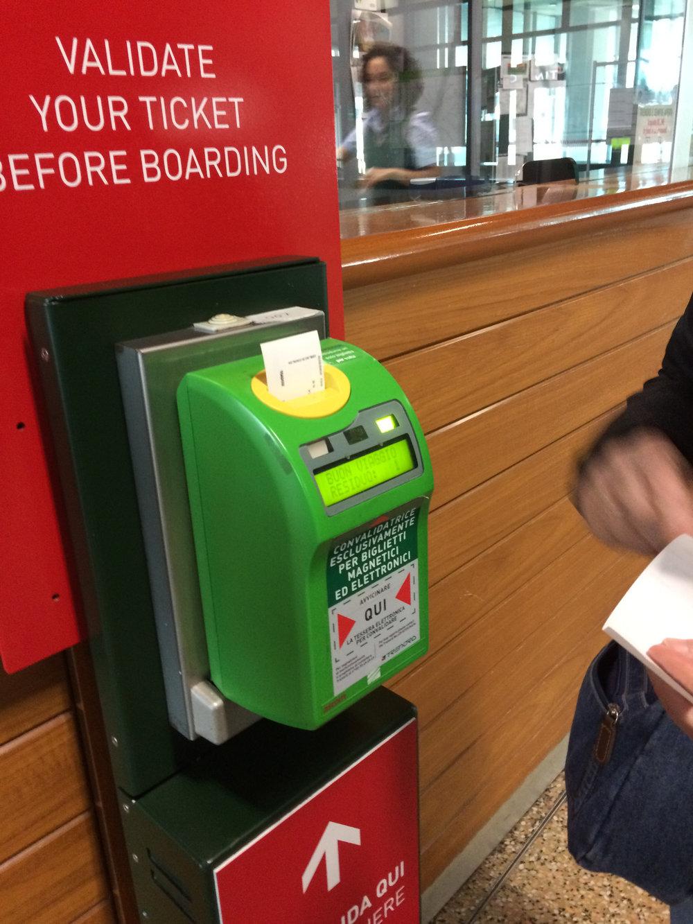 Ticket Validation Machine