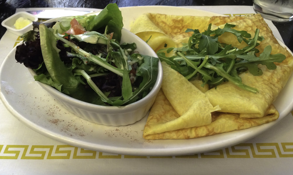 Crepes and a side salad