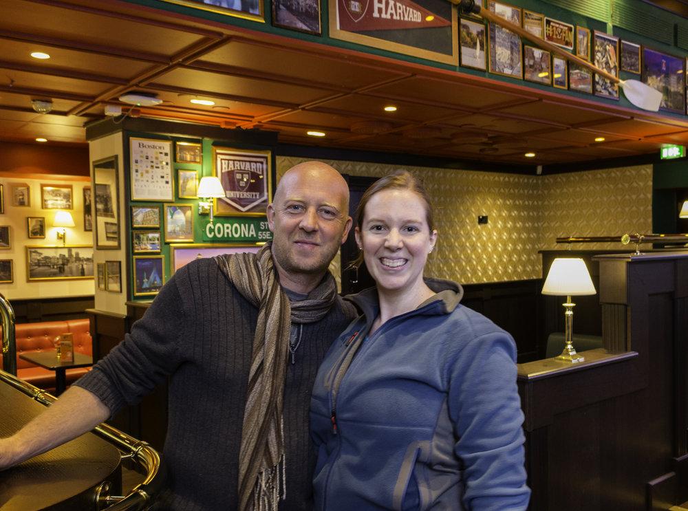 Stefan and me in Helsinki's Irish Pub