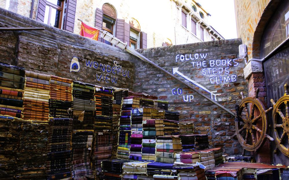 Libraria Acqua Alta Back Stairs