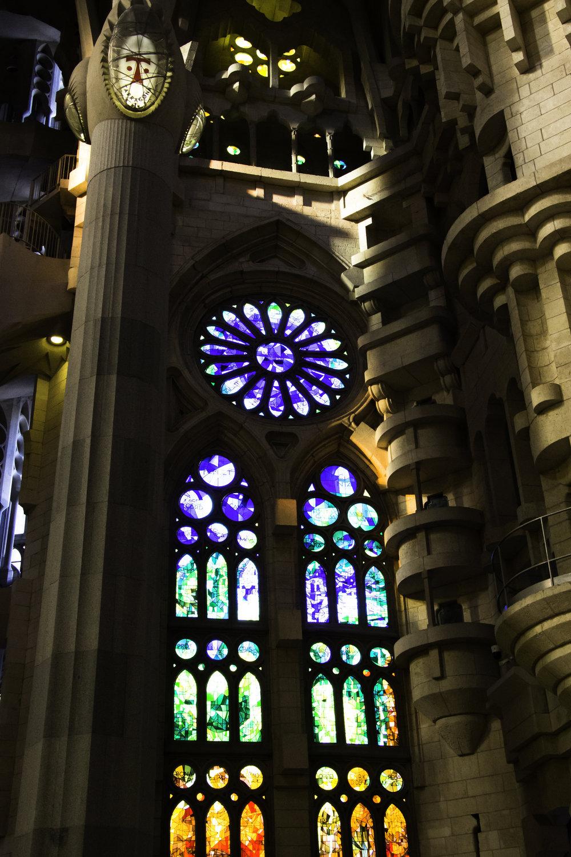Just one of the many windows of La Sagrada Familia