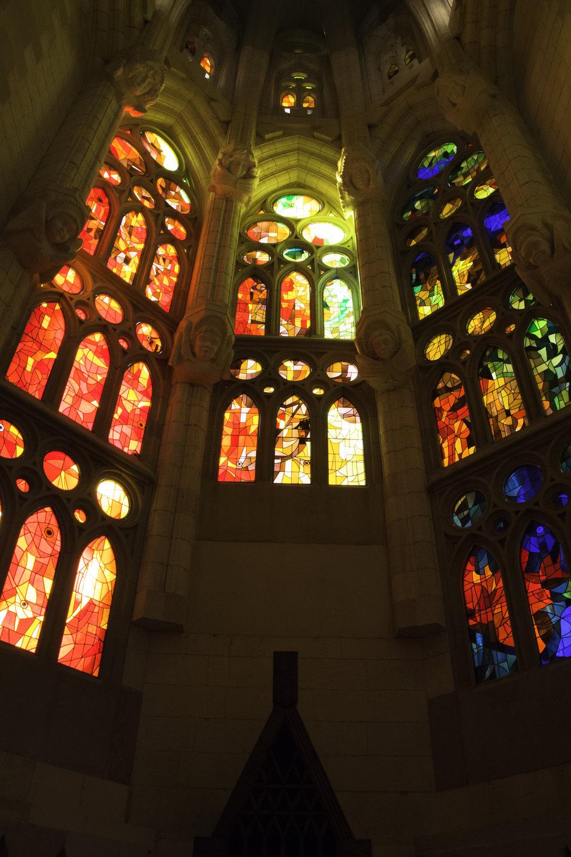 One of the many windows at La Sagrada Familia