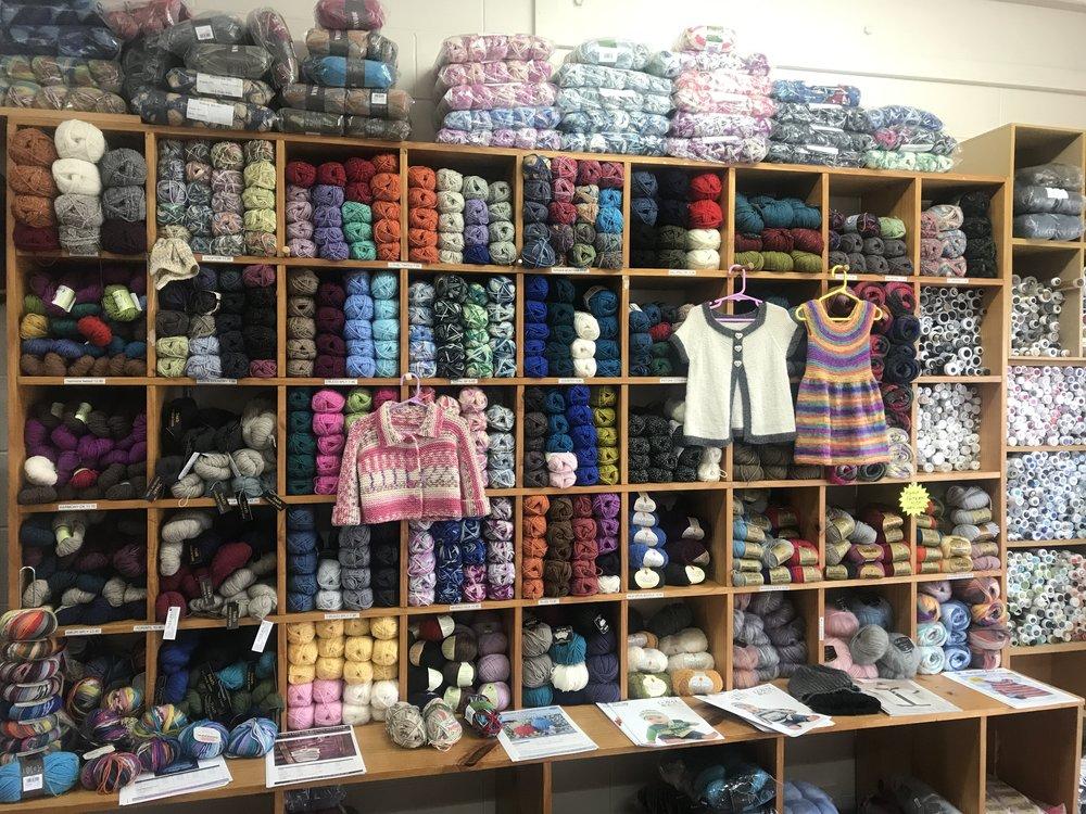 Hobby: Knitting and visiting Yarn Shops (Shore Wools - Browns Bay, NZ)