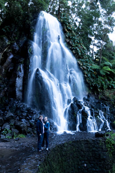 Without Pedro, we would have missed this amazing waterfall in the Azores.