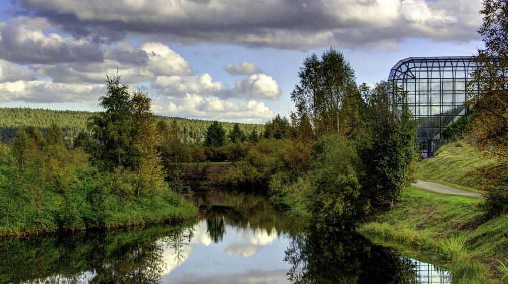 Arktikum Building, Park, and River